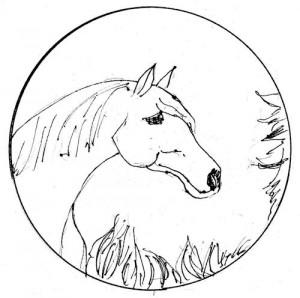 bord met paardmotief