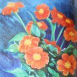 bloemen tekenen met kl eurpotlood
