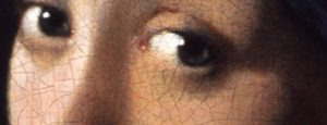 voorbeeld hoe teken je een oog zoals Vermeer