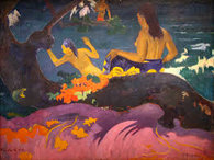 baadsters op Tahiti door P. Gauguin