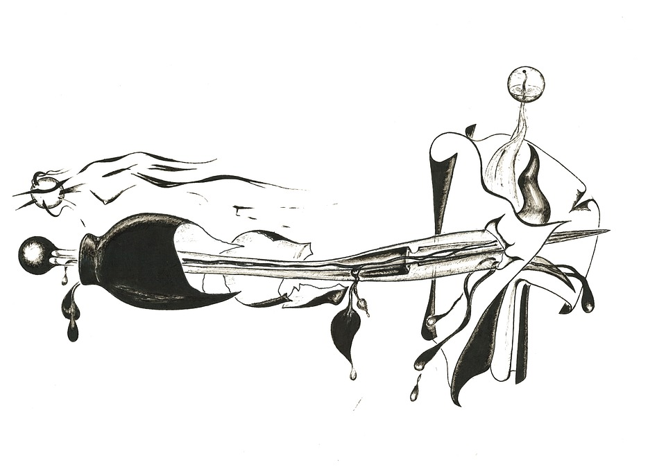 Zwart En Wit Inkt Abstract - Gratis afbeelding op Pixabay